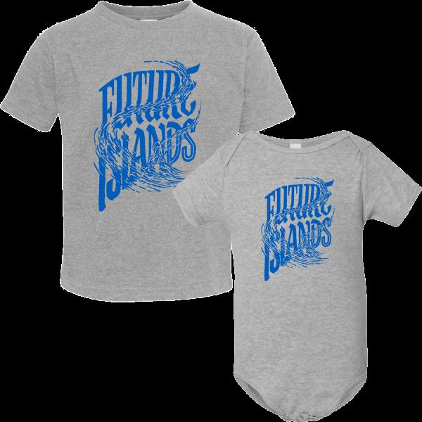 Blue Wave Logo Kid's Onesie or T-shirt