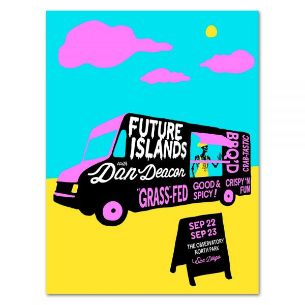 Future Islands San Diego, CA // The Observatory North Park // 09.22-23.15 Poster